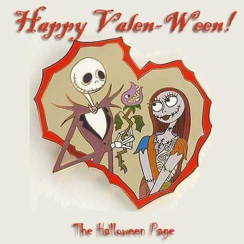 2020 Disney Halloween Pins Jack Skellington Happy Valen Ween! From our friend JaCk at @thehalloweenpage