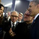 President Obama and First Lady Michelle Obama Attend Nelson Mandela's Memorial