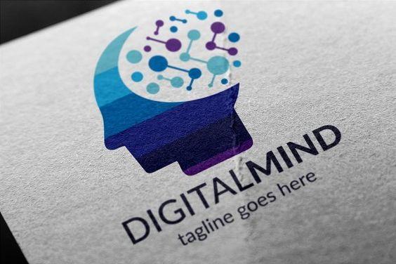 Digital Mind Logo by tkent on @creativemarket