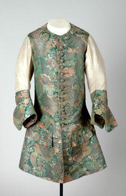 Sleeved waistcoat, 1710 - 1720.