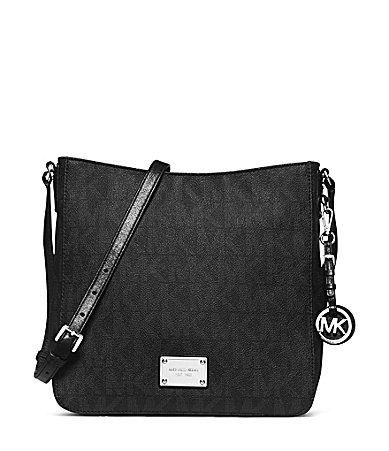 MICHAEL Michael Kors Signature Jet Set Travel Large Messenger CrossBody Bag #Dillards