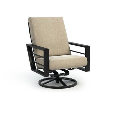 Tropitone Corsica Padded Sling High Back Swivel Rocker Patio Dining Chairs Patio Rocking Chairs Outdoor Dining Chairs
