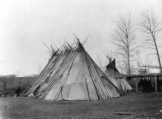 Nez Perce Chief Joseph's tepee, Colville Indian Reservation, Washington, ca. 1901.: