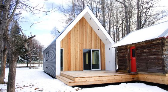 .: Modern Cabin, Alberta Canada, Tiny Houses, Architecture Green, Small House, Energy Efficient Homes