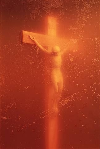 Piss Christ   Andres Serrano  One of my favorite pieces by him... So much emotion came from it, and it's stunning.