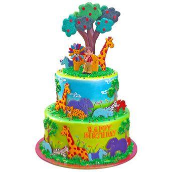 Jungle safari cake, Safari cakes and Jungle safari on ...