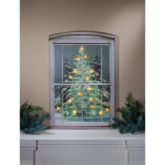 Look out the window to see beautiful snow covered pine trees. The LIGHTED LARGE…