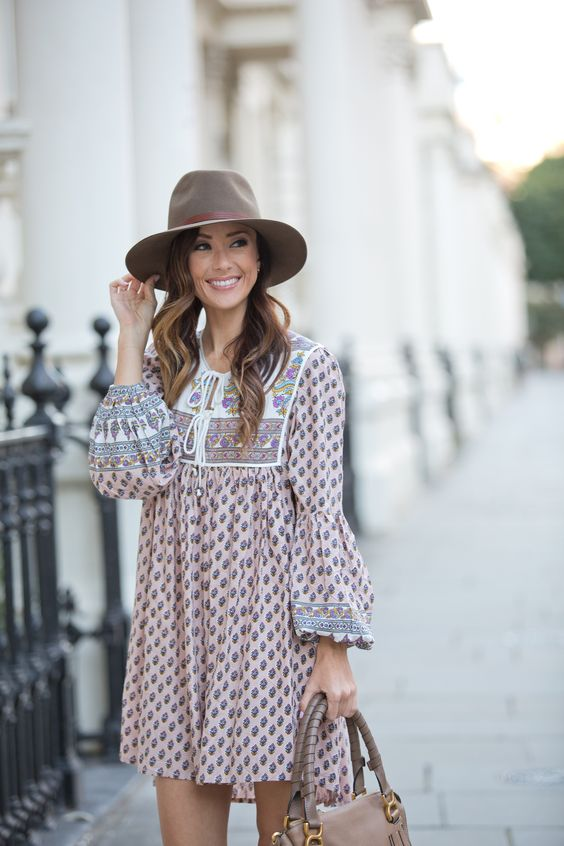 BOHO INSPIRED OUTFIT + HELLO FROM LONDON | Sequins & Things