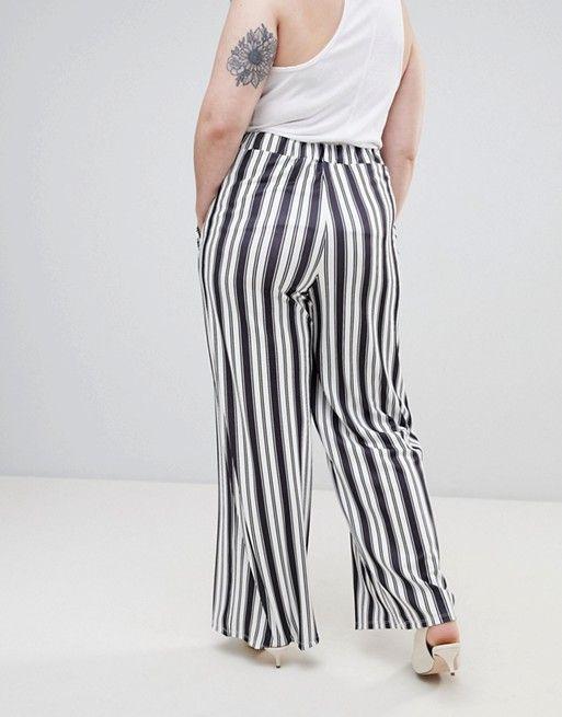 Pink Clove | Pink Clove - Pantalon large à rayures style été