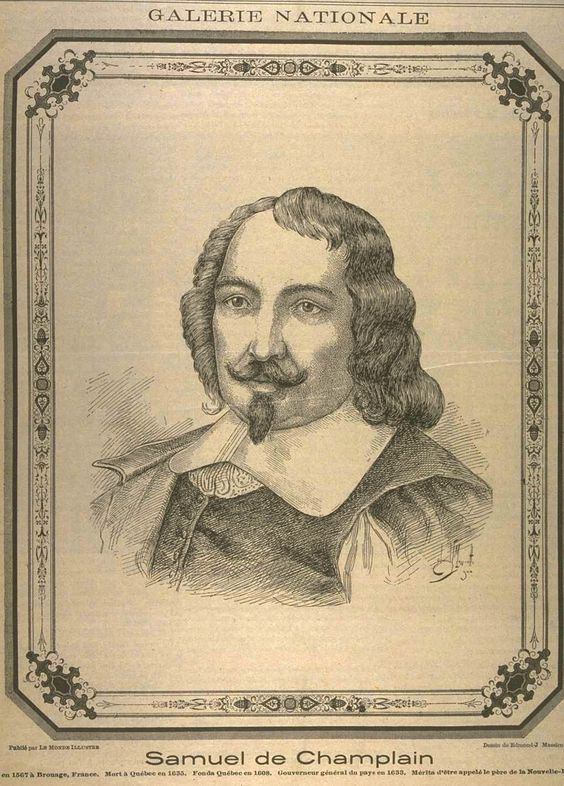 Samuel de Champlain (1567-1635), a French navigator, explorer. He founded New France and Quebec City on July 3, 1608. He explored the first permanent European settlement & established the French settlement that is now Quebec City..He's the 1st European to describe the Great Lakes, &  published maps of his journeys. In 1620, Louis XIII ordered Champlain to  return to Quebec & served as governer. He established trading companies & oversaw the growth of New France until his death in 1635.