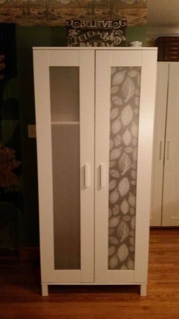 Aneboda wardrobe wardrobes and hacks on pinterest for Ikea brimnes wardrobe hack