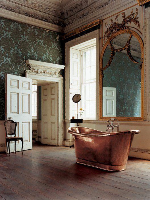 awesome copper tub: Vintage Bathroom, Soaking Tub, Bathtub, Beautiful Bathroom, Bathroom Idea, Copper Bath, Dream Bathroom, Copper Tub