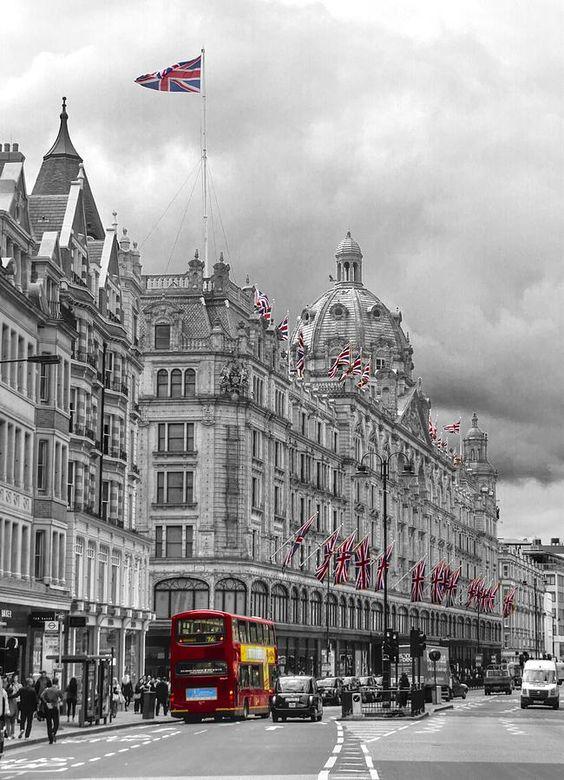 Harrods of Knightsbridge bw hdr Photograph - Love it! #knightsbridge #london
