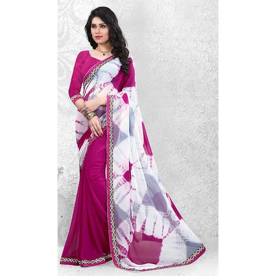 http://www.thatsend.com/shopping/lp/fvp/TESG190968/i/TE253468/iu/white-georgette-casual-saree  White Georgette Casual Saree Apparel Pattern Printed. Work Print, Border Lace. Blouse Piece Yes. Embroidery Method Machine. Occasion Diwali, Festive.