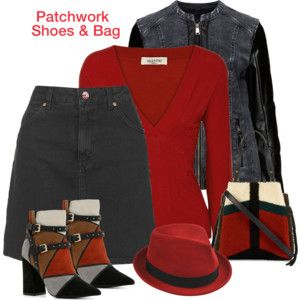 Patchwork Shoes & bag