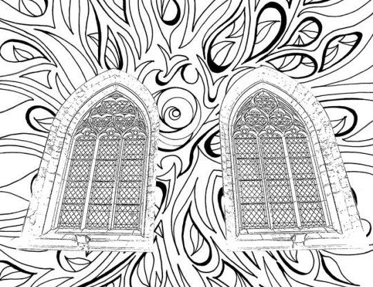 Adult Coloring Pages Catholic Church Windows Adult Coloring