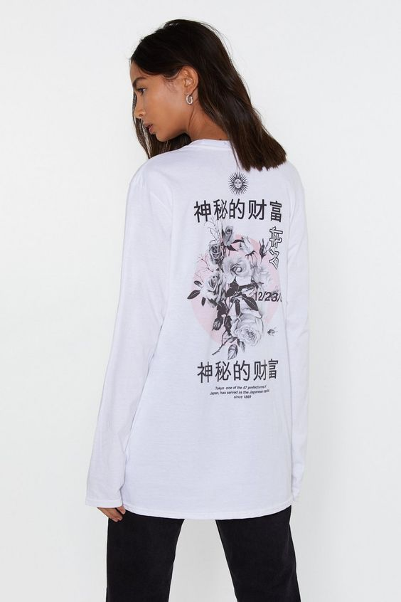 Flower Girl East Asian Graphic Tee | Shop Clothes at Nasty Gal!