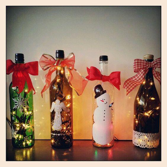Pinterest the world s catalog of ideas for Christmas bottle decoration ideas