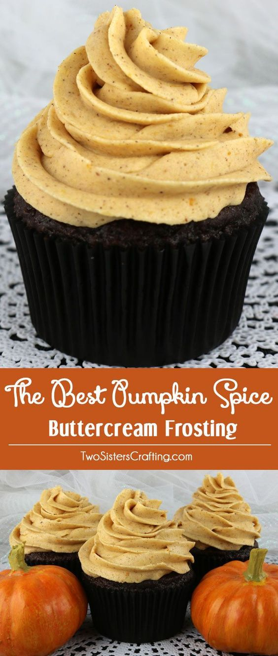 The Best Pumpkin Spice Buttercream Frosting - Sweet, creamy, pumpkin-y ...