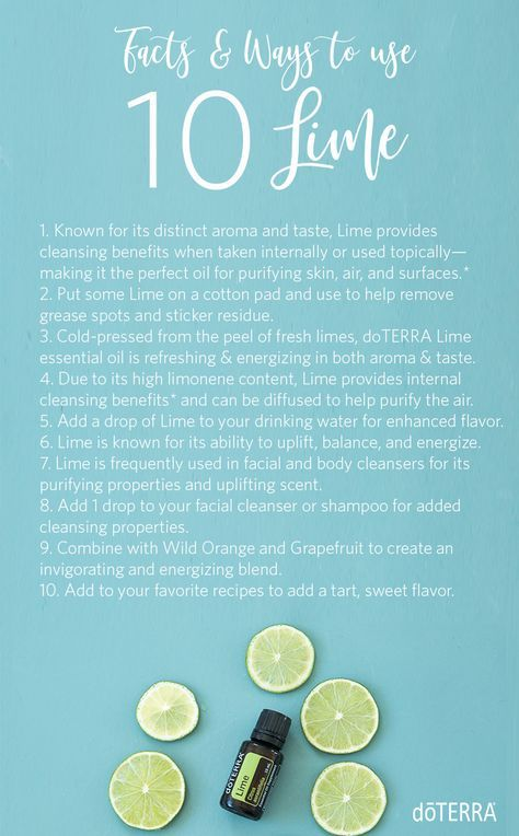 Learn More About Lime Essential Oil With These Fun Facts Uses