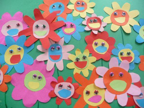 Flors a l'estil de Takashi Murakami