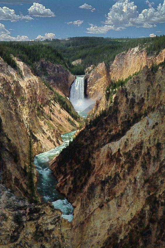 Yellowstone Falls, Park County, Wyoming