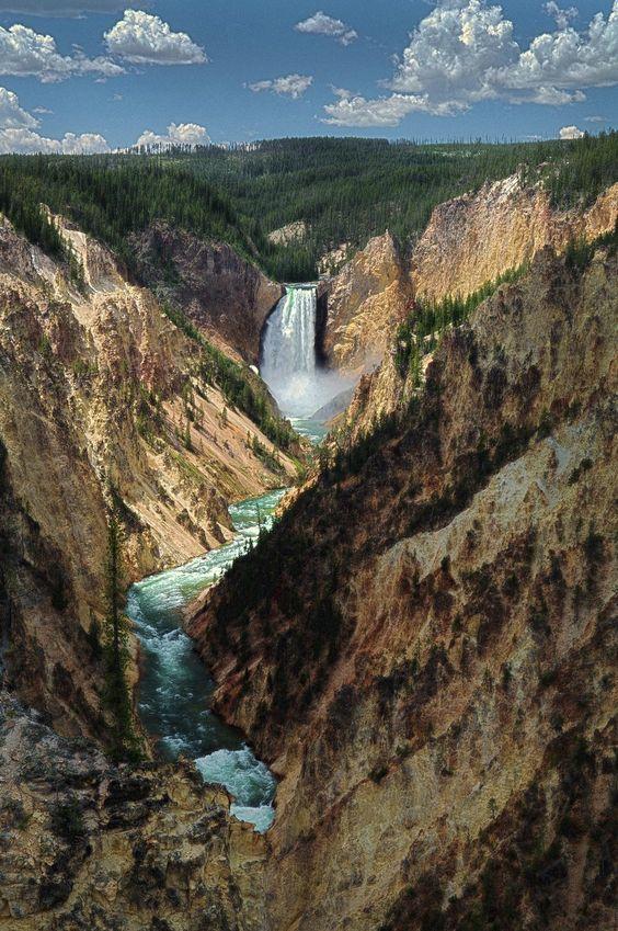 Yellowstone Falls, Park County, Wyoming