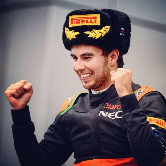 """""""""""The last lap was amazing."""" - @schecoperez #SergioPerez #F1Sochi #ForceIndia #RussianGP #F1"""""""