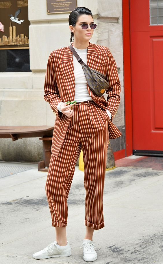 Pinstripe Perfection from Kendall Jenner's Street Style
