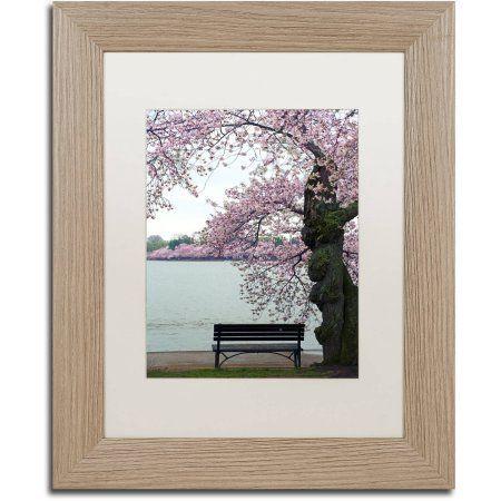 Trademark Fine Art Tranquility Canvas Art by CATeyes, White Matte, Birch Frame, Size: 11 x 14, Green