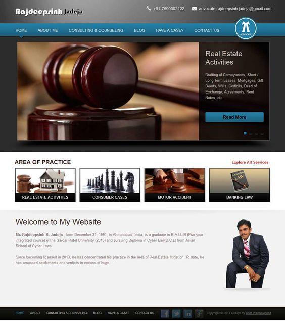 Created A Website For Mr Rajdeepsinh Jadeja The Advocate In