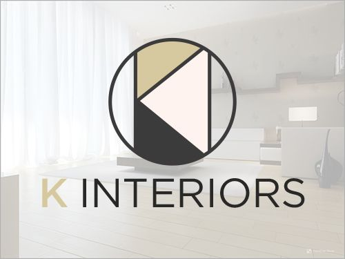 k interiors design beth mathews design - Interior Design Logo Ideas