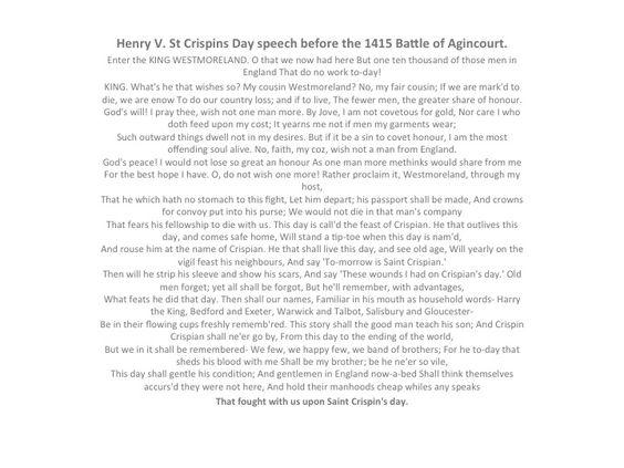 henry v shakespeare essay