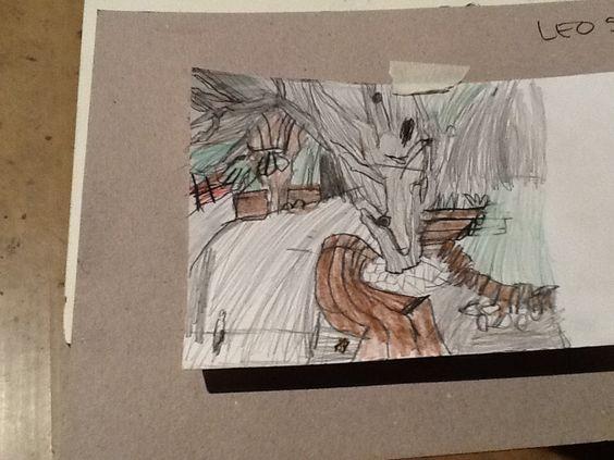 Desenho de observassao DA ÁRVORE              LÉO 5anoe