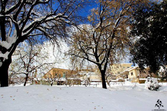 White land and blue skies in #Baskinta <3 By Ali Badawi  #Lebanon #WeAreLebanon