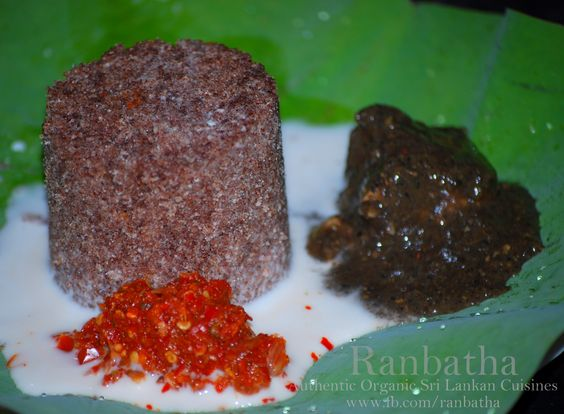 Kurakkan millet pittu ranbatha for Authentic sri lankan cuisine
