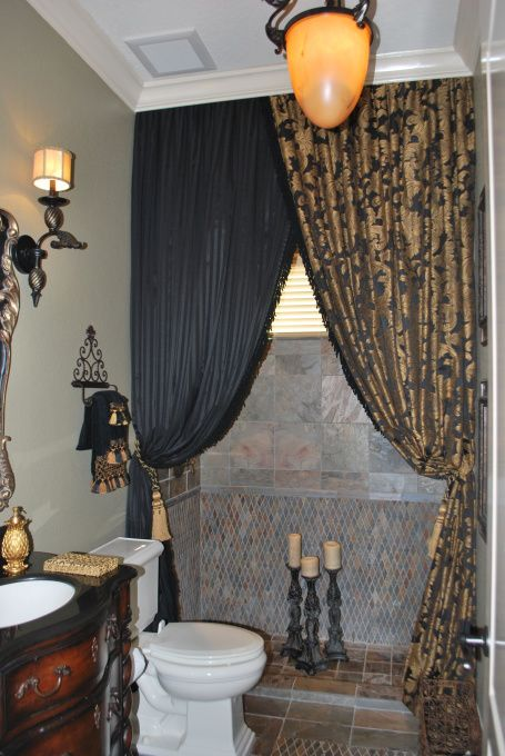 curtains shower curtains  guest bathrooms  pinterest