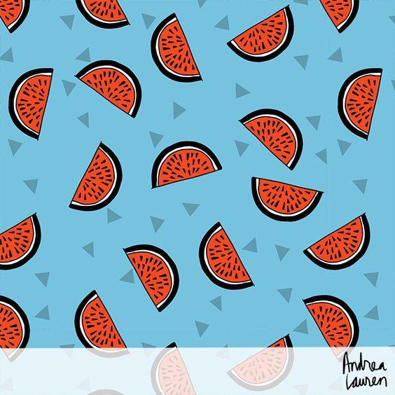 Summer Fruits Patterns:  Bananas