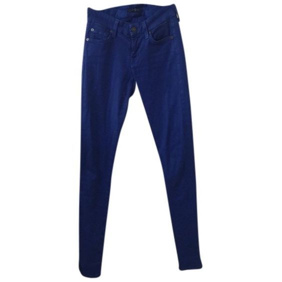 Pre-owned 7 For All Mankind Skinny Jeans ($69) ❤ liked on Polyvore