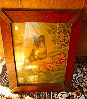 Antique James Lee print, c:1911, awesome oak frame SOLD at More Than McCoy at http://www.morethanmccoy.com
