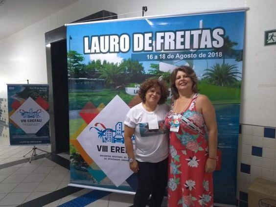 Sônia da FAUmília de Blumenau no VIII Erefau em Lauro de Freitas, BA, nos dias 16, 17 e 18/08/2018.