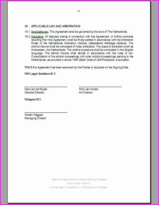 Contract Signature Page Template In 2020 Page Template
