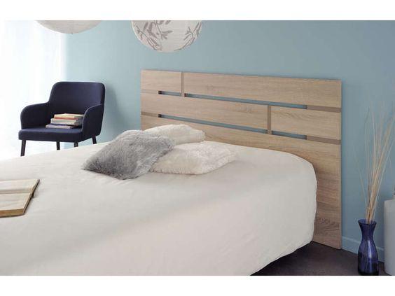 T te de lit artus coloris ch ne brut taupe vente de accessoires de chambre - Tete de lit pas cher conforama ...