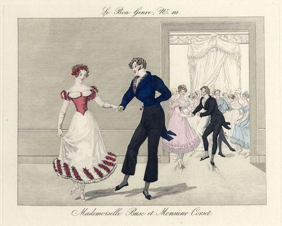 Le Bon Genre 1819-1931 Mademoiselle Busc et Monsieur Corset Dance 19th Century Costumes: