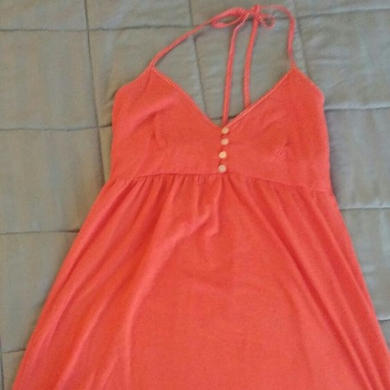 Coral Summer halter dress Unlined cups, button details, super soft and flirty Aeropostale Dresses Mini