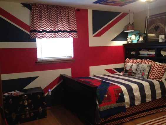 British room design for my daughter 39 s room decorating for Union jack bedroom ideas