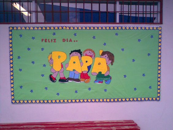 Amenidades por el dia padre para mural de colegio for Amenidades para periodico mural