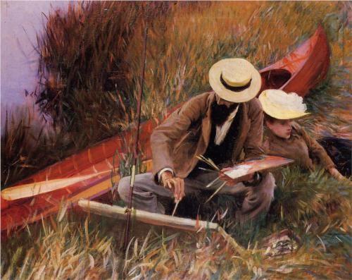 Paul Helleu Sketching his Wife - John Singer Sargent