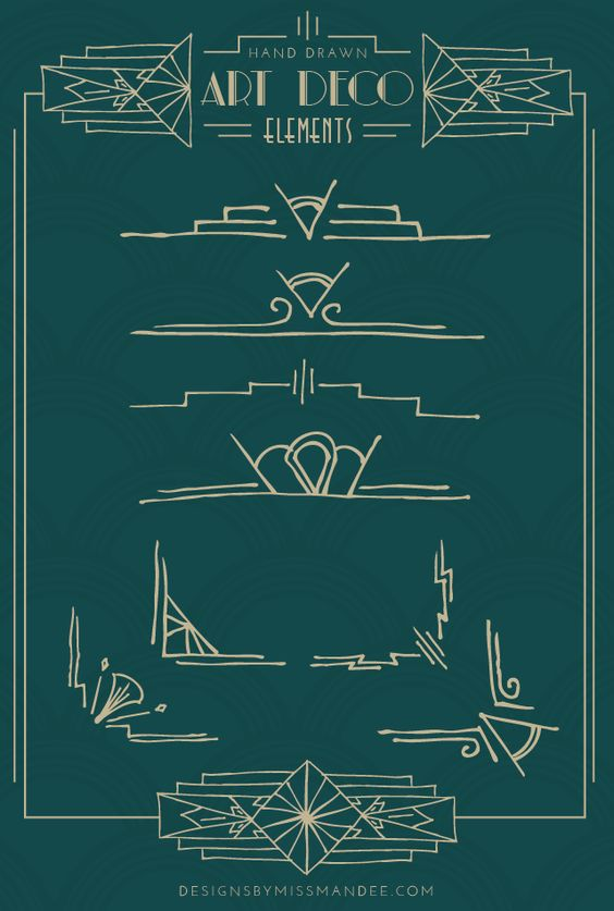 Art deco deco and hand drawn on pinterest for Element deco design
