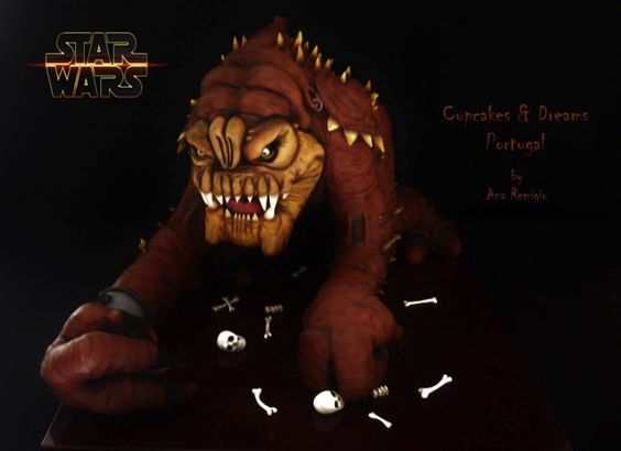 Terrific Star Wars Rancor Cake made by Cupcakes & Dreams: